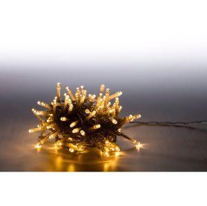 Marimex Světelný řetěz 100 LED - teplá bílá - transparent - mód - 18000067